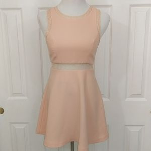 BCBGeneration peach skater dress with lace size 4